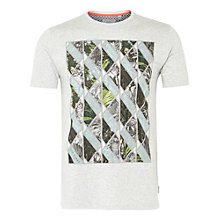 Buy Ted Baker Balbowa Triangle Graphic T-Shirt, Grey Marl Online at johnlewis.com