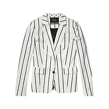 Buy Maison Scotch Stripe Blazer, Blue Stripe Online at johnlewis.com