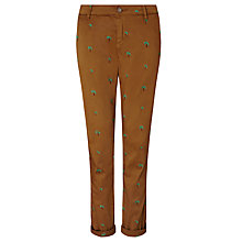 Buy Maison Scotch Palm Tree Embroidered Chinos, Tan Online at johnlewis.com