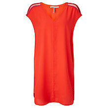Buy Maison Scotch Jersey V-Neck Dress, Chilli Online at johnlewis.com