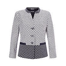 Buy Gerry Weber Contrast Spot Jacket, Ecru/Blue Online at johnlewis.com