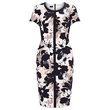 Buy Gerry Weber Floral Printed Dress, Black/Ecru Online at johnlewis.com