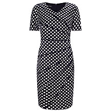 Buy Gerry Weber Spot Print Dress, Blue/Ecru Online at johnlewis.com