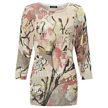 Buy Gerry Weber Printed Jumper, Pink/Ecru Online at johnlewis.com