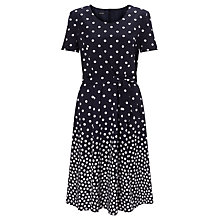 Buy Gerry Weber Spot Print Fit & Flare Dress, Indigo Online at johnlewis.com