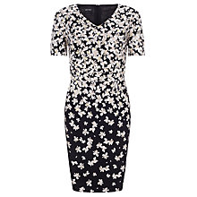 Buy Gerry Weber Printed Dress, Black/Rose Online at johnlewis.com