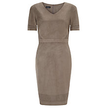 Buy Gerry Weber Faux Suede Dress, Taupe Online at johnlewis.com