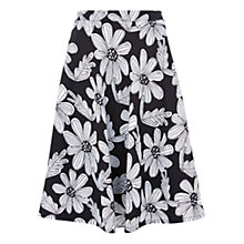 Buy Louche Mayella Floral Print Skirt, Black/White Online at johnlewis.com