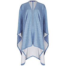 Buy Winser London Merino Wool Reversible Poncho, Chambray Blue/Ivory Online at johnlewis.com