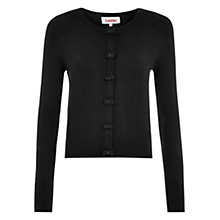 Buy Louche Ivy Bow Front Cardigan, Black Online at johnlewis.com