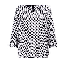 Buy Gerry Weber Spot Print Blouse, Mother Of Pearl/Marine Online at johnlewis.com
