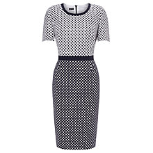 Buy Gerry Weber Contrast Spot Dress, Ecru/Blue Online at johnlewis.com