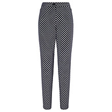 Buy Gerry Weber Spot Cropped Trousers, Blue/Ecru Online at johnlewis.com