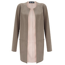 Buy Gerry Weber Faux Suede Jacket, Taupe Online at johnlewis.com