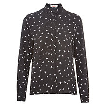 Buy Louche Manzie Whisper Shirt, Black Online at johnlewis.com