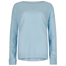 Buy Winser London Audrey Cashmere Jumper, Chambray Blue Online at johnlewis.com
