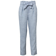 Buy Tommy Hilfiger Jada Chambray Linen Trousers, Blue Heather Online at johnlewis.com