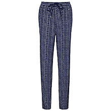 Buy Tommy Hilfiger Nancy Check Trousers, Blue Depths/White Online at johnlewis.com