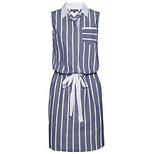 Buy Tommy Hilfiger Nadie Stripe Dress, Blue Depths/White Online at johnlewis.com