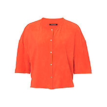 Buy Betty Barclay Faux Suede Short Sleeved Jacket, Dark Orange Online at johnlewis.com