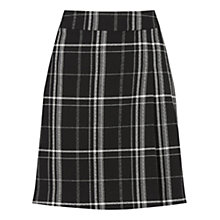Buy Oasis Check Poppy Skirt, Black/White Online at johnlewis.com