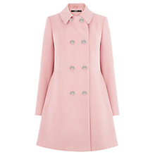 Buy Oasis Double Breasted Princess Coat, Powder Pink Online at johnlewis.com