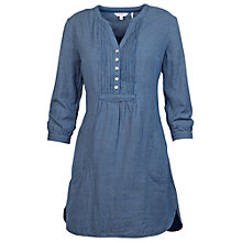 Buy Fat Face Isabel Mini Check Tunic Blouse, Indigo Online at johnlewis.com