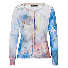 Buy Betty Barclay Sheer Printed Cardigan, Blue/Beige Online at johnlewis.com