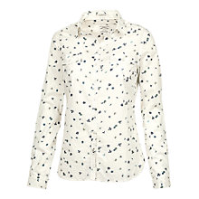 Buy Fat Face Classic Fit Spring Ditsy Shirt, Ivory Online at johnlewis.com