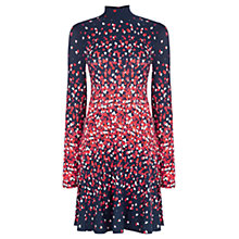 Buy Oasis High Neck Heart Skater Dress, Navy Online at johnlewis.com