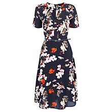 Buy Oasis Blossom Dress, Multi Blue Online at johnlewis.com