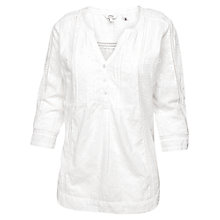 Buy Fat Face Poppy Broderie Popover Top, White Online at johnlewis.com
