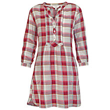 Buy Fat Face Isabel Pretty Grid Check Tunic, British Plum Online at johnlewis.com