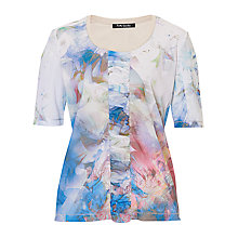 Buy Betty Barclay Printed Mesh T-Shirt, Blue/Beige Online at johnlewis.com