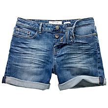 Buy Fat Face Retro Shorts, Denim Online at johnlewis.com