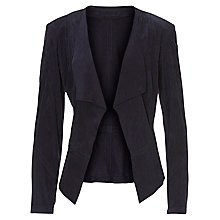Buy Betty Barclay Suede Panelled Jacket, Navy Blue Online at johnlewis.com