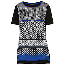 Buy Betty Barclay Abstract Print Tunic Top, Black/Blue Online at johnlewis.com