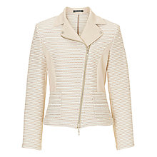 Buy Betty Barclay Tailored Biker Jacket, Silky Beige Online at johnlewis.com