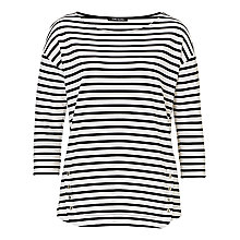 Buy Betty Barclay Striped Jersey Top, White/Black Online at johnlewis.com