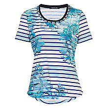 Buy Betty Barclay Floral and Stripe T-Shirt, Multi Online at johnlewis.com