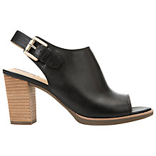 Buy Geox Callie Leather Block Heel Sandals, Black Online at johnlewis.com