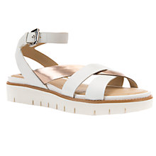 Buy Geox Darline Cross Strap Sandals, Light Gold Leather Online at johnlewis.com