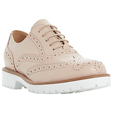 Buy Dune Black Fawna Cleated Sole Brogues Online at johnlewis.com