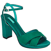 Buy John Lewis Dusty Block Heeled Sandals, Green Online at johnlewis.com