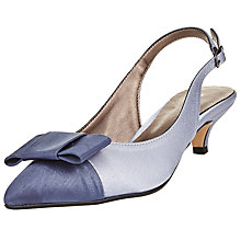 Buy John Lewis Dorchester Bow Slingback Court Shoes, Dusk Blue Online at johnlewis.com