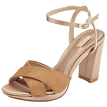 Buy John Lewis Dusty Block Heeled Sandals Online at johnlewis.com