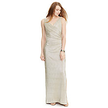 Buy Lauren Ralph Lauren Zilette Dress Zilette Dress, White/Gold Online at johnlewis.com