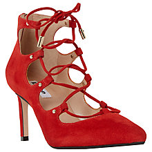 Buy Dune Alabama High Heeled Lace Up Court Shoes Online at johnlewis.com