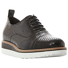 Buy Dune Black Faraz Flatform Lace Up Shoes Online at johnlewis.com