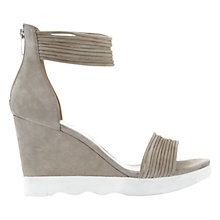 Buy Mint Velvet Demi Wedge Heeled Sandals, Stone Suede Online at johnlewis.com